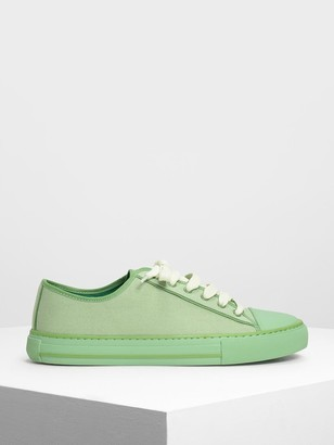 Charles & Keith Candy Coloured Canvas Sneakers