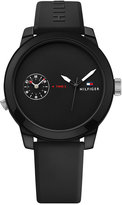 Tommy Hilfiger Men's Cool Sport Black Silicone Strap Watch 42mm 1791326