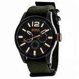 HUGO BOSS Orange 1513312 Men's Green Nylon and Stainless Steel Watch
