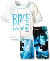 Big Chill Little Boys Dive Rash Guard Swim Set