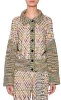 Missoni Button-Down Cross-Stitched Wool-Blend Cardigan