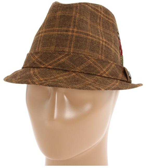 Brixton Stroll (Brown Plaid Viscose/Wool) - Hats