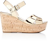 Prada Women's Platform Wedge Sandals-GOLD