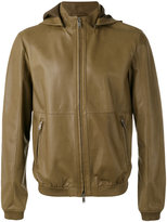 Desa 1972 - hooded zip up jacket - men - Cotton/Leather - 48