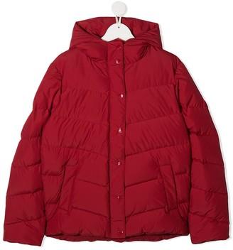 Bonpoint Red Chevron Padded Coat
