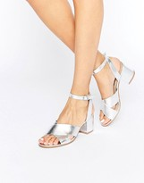 London Rebel Kitten heel Sandal