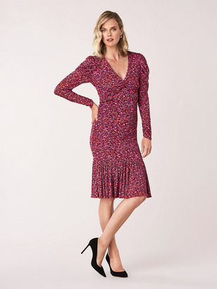 Diane von Furstenberg Alyssa Mesh Long-Sleeve Dress