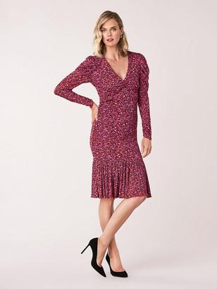 Diane von Furstenberg Alyssa Mesh Long-Sleeve Dress