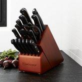 Crate & Barrel Wüsthof ® Gourmet 18-Piece Cherry Knife Block Set
