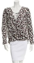 Derek Lam 10 Crosby Silk Printed Top w/ Tags