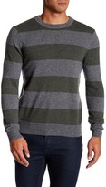 Qi Crew Neck Rugby Stripe Sweater