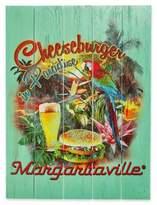 Margaritaville Cheeseburger in Paradise Outdoor Wall Art in Green