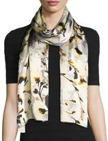 Vince Camuto Foliage and Bloom Silk Scarf