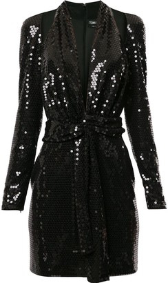 Tom Ford Sequin Cut Out Halter Dress
