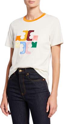 Tory Burch Colorblock Logo Short-Sleeve T-Shirt