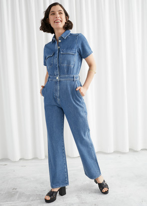 And other stories Boxy Denim Jumpsuit