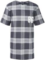 Helmut Lang plaid T-shirt - men - Cotton/Spandex/Elastane - S