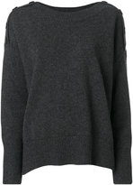 Vanessa Bruno button shoulder jumper - women - Wool/Yak - S
