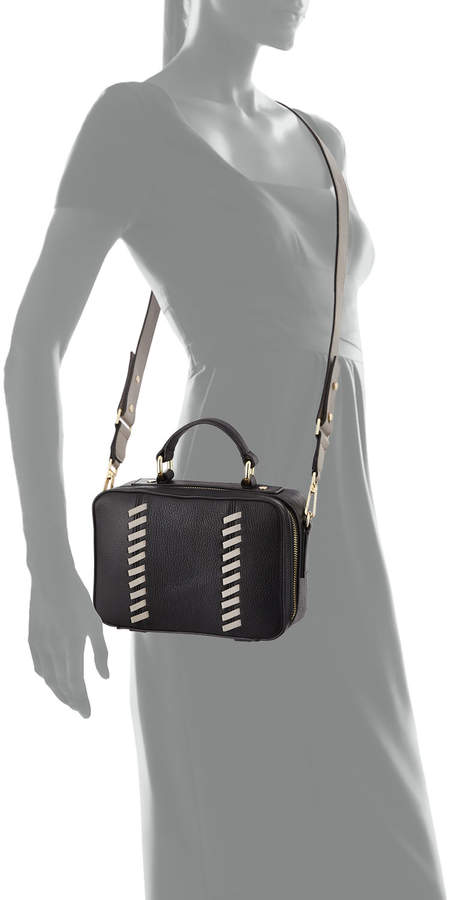 Milly Astor Small Whipstitch Satchel Bag