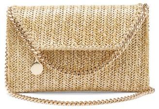 Stella McCartney Falabella Small Raffia Shoulder Bag - Gold