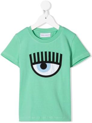 Chiara Ferragni Kids Logomania embroidered T-shirt