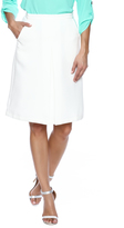 Lucy Paris White Pleat Skirt