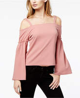 Bar III Textured Cold-Shoulder Top, Created for Macy's
