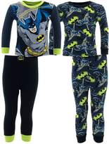 DC Comics Little Boys' Batman Cotton 2-Pack Glow Pajamas