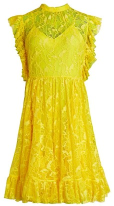 MSGM Lace Flutter-Sleeve Dress