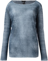 Avant Toi blurry stripes jumper - women - Linen/Flax/Polyamide - XS
