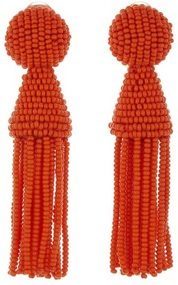 Oscar de la Renta Short Tassel Earrings
