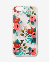 Express rifle paper co. clear rosa iphone 6/6S case
