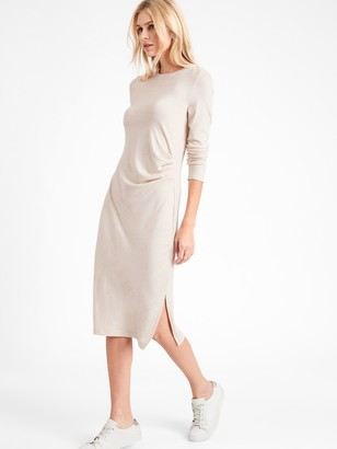 Banana Republic Petite Luxespun Side-Ruched Dress