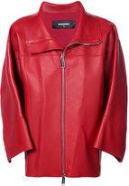 DSQUARED2 classic biker jacket - women - Lamb Skin - 36