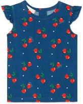 Gucci Baby heart cherries print shirt