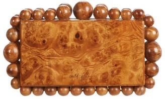 Cult Gaia Eos Beaded Wood Box Clutch