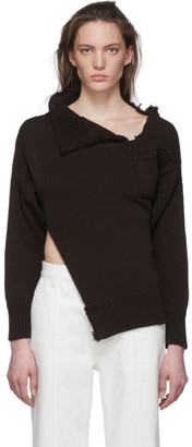 Marni Black Look 26 Distressed Knit Sweater