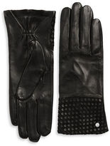 Michael Kors Basketweaved Leather Gloves