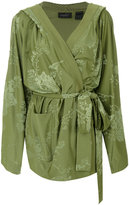 Fenty X Puma - tonal floral kimono jacket - women - Polyester/Spandex/Elastane - XS