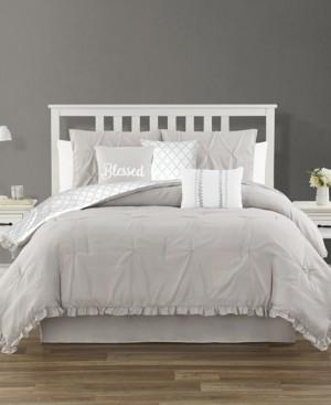 Jessica Sanders Ruffled 7 Piece King Comforter Set Bedding