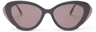 Alexander McQueen Cat-eye Acetate Sunglasses - Womens - Black