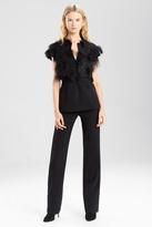Josie Natori Embellished Double Knit Jersey Bolero