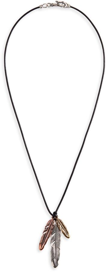df9bc2d2494 Feather Necklace Men - ShopStyle