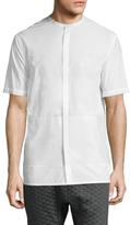 Helmut Lang Mandarin Collar Sportshirt
