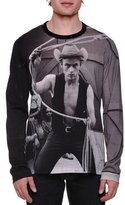 Dolce & Gabbana James Dean Photo-Print Long-Sleeve T-Shirt, Black/Gray