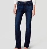 LOFT Curvy Boot Cut Jeans in Pure Dark Indigo