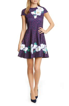 Ted Baker Tohkoh Wilderness Fit & Flare Dress