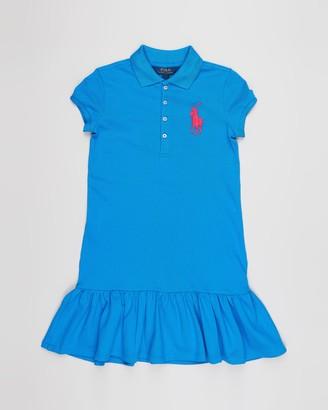 Polo Ralph Lauren Stretch Mesh Polo Dress - Teens