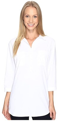 Royal Robbins Expedition Chill Stretch Tunic (White) Women's Long Sleeve Pullover