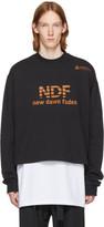 Raf Simons Black Cropped 'New Dawn Fades' Sweatshirt